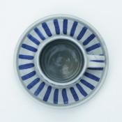 Jane Follett Pottery Blue Stripes Cup02