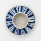 Jane Follett Pottery Blue Stripes Cup05