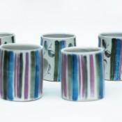 Jane Follett Pottery Colour Stripe Mugs Group03