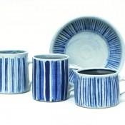 Jane Follett Pottery Colour Stripe Mugs Group05