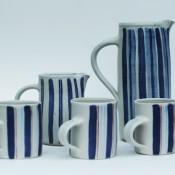 Jane Follett Pottery Colour Stripes Group01