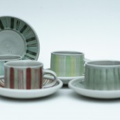 Jane Follett Pottery Colour Stripes Group02