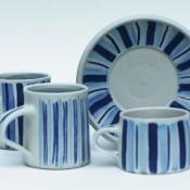 Jane Follett Pottery Colour Stripes Group03