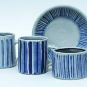 Jane Follett Pottery Colour Stripes Group04